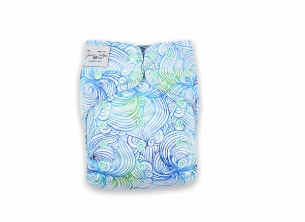 Sea Swirl Night Nappy AIO