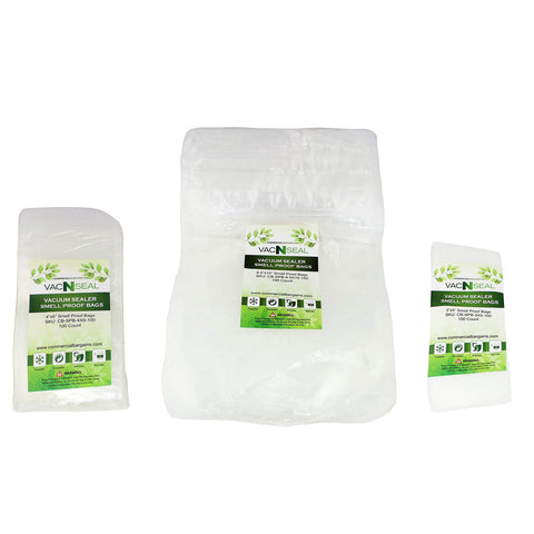 300 Count Heavy Duty Zip Smell Proof Bags 3 Different Sizes