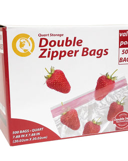 Commercial Bargains Zipper Storage Bags With Double Seal Technology, For Food, Sandwich, Organization, Travel, and More