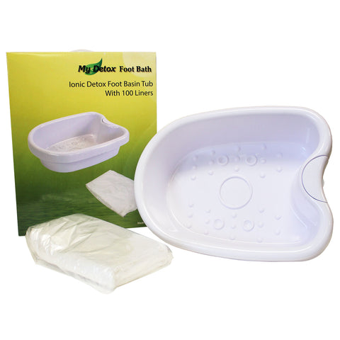 My Detox Foot Bath Ionic Detox Foot Bath Basin Tub With 100 Liners