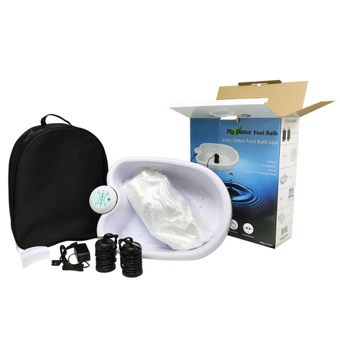 Ionic Detox Foot Bath Cleanse Spa With Basin 100 Liners And Two Round Arrays