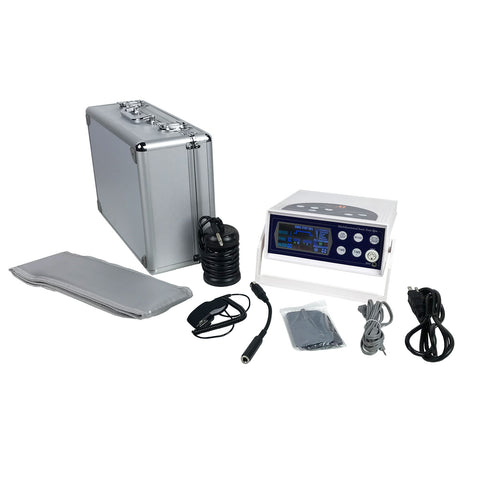 My Detox Foot Bath Colored LCD Display Ion Cleanse Detox Foot Spa Detoxification Machine with Array, Wrist Strap, Waist Band, TENS Pads, and Aluminum Case
