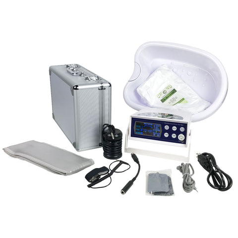 My Detox Foot Bath Ionic Detox Foot Bath Machine with Waist Belt, Wrist Strap, TENS Pads, Tub Basin, Array, and Liners