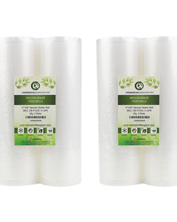 "4 Commercial Bargains 11""x50"" Vacuum Food Sealer Saver Storage Rolls Bags"