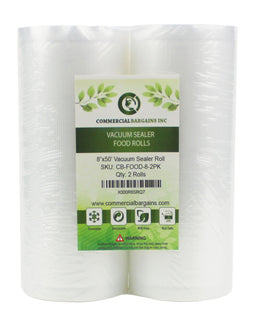 "(48) 8"" x 50' Vacuum Sealer Saver Food Storage Roll Bags Freezer"