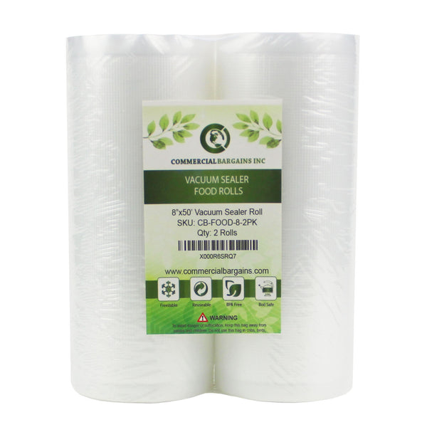 "12 Large Commercial Bargains 8"" X 50' Vacuum Saver Sealer Rolls Bags Freezer"