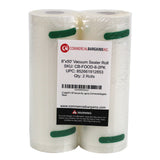 "6 Large Commercial Bargains 8"" x 50' Vacuum Saver Sealer Rolls Bags Freezer"