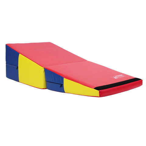 Primary Rainbow Folding Incline Gymnastics Mat Foam Triangle Tumbling Wedge 121