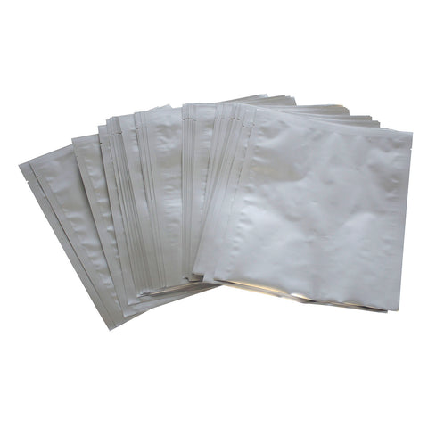 "(50) 8""x10"" Quart Sealer Food Storage Mylar Bags And (50) 100CC Oxygen Absorbers"