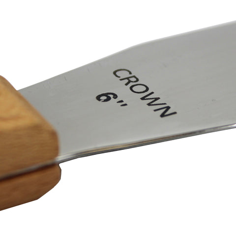Screen Printing Ink Spatula Stainless Steel Ink Knife Wood Handle Flexible Ink Spatula - 6in / 8in