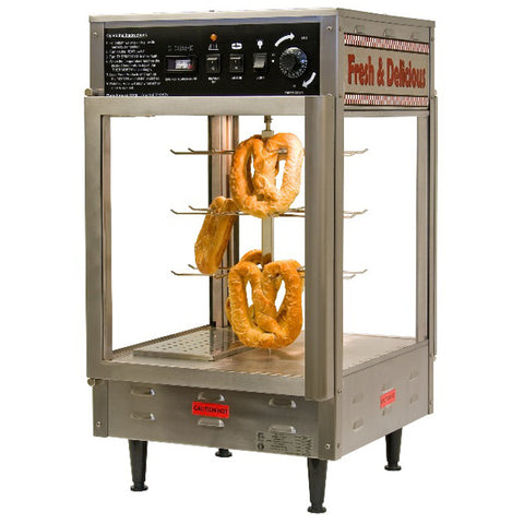 "Benchmark USA 18"" Rotating Pizza Pretzel Warmer Humidifier 120V 1480W 51018"