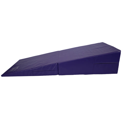 Purple Folding Incline Gymnastics Mat Training Foam Triangle Tumbling Wedge 175