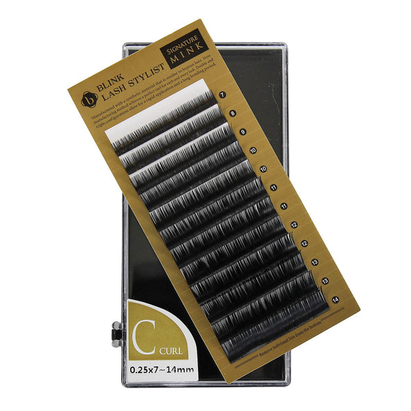 f36219dcbc4 Eyelash Extension Blink Mink C 0.25 Curl 7mm-14mm Mixed Size Tray ...