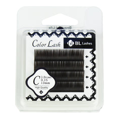 BL Lashes Color Lash C Dark Brown 0.15 Thickness 4 Lines