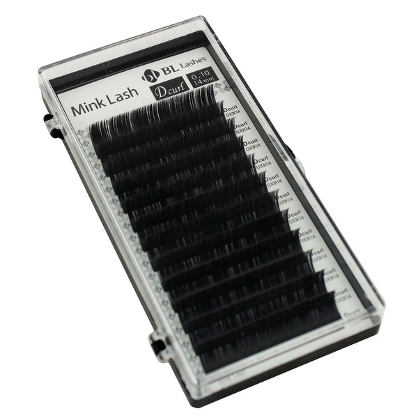 Eyelash Extension Blink Mink D 0.10mm X 14mm Curl Individual Black False Lashes