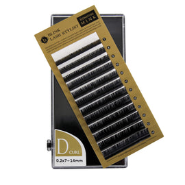 Eyelash Extension Blink Mink D 0.20 Curl 7mm-14mm Mixed Size Tray