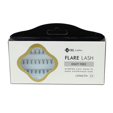 BL Lashes Flare Lash Knot Free Length 11 Cluster Lashes Eyelash Extension