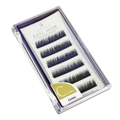 Blink Lashes Natural Mink Fur Lashes C 11MM Curl For Eyelash Extension