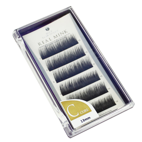 Blink Lashes Natural Mink Fur Lashes C 13MM Curl For Eyelash Extension