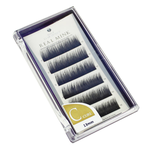 Blink Lashes 100% Real Mink Fur Lashes C 13MM Curl For Eyelash Extension