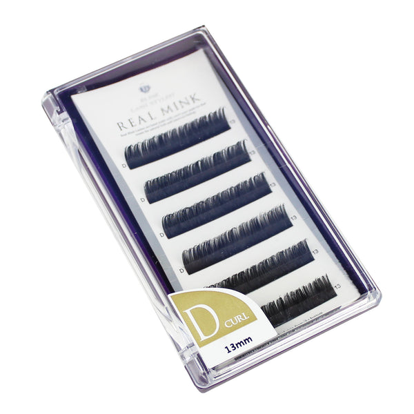 Blink Lashes Natural Mink Fur Lashes D 13MM Curl For Eyelash Extension