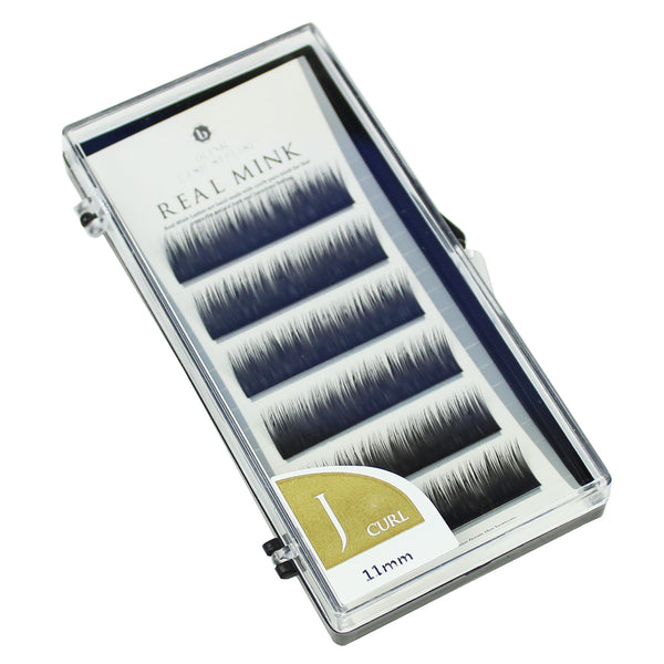 Blink Lashes Natural Mink Fur Lashes J 11MM Curl For Eyelash Extension