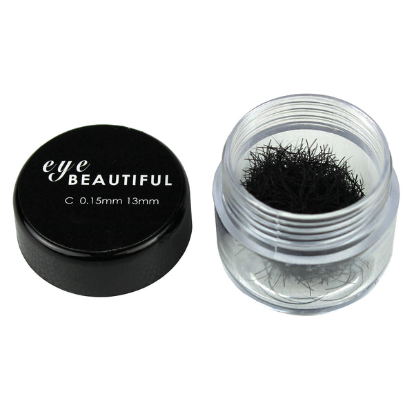 Premium MINK Individual Loose Lashes C Curl 10mm to 14mm Eyelash Extension 15MM
