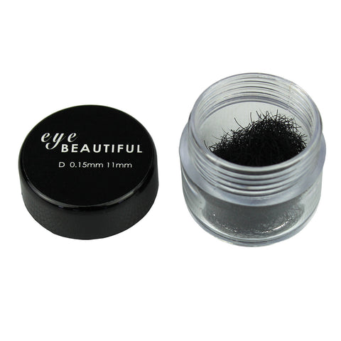Premium MINK Individual Loose Lashes D Curl 10mm to 14mm Eyelash Extension 15MM