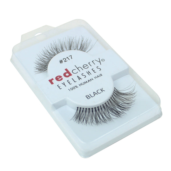 Red Cherry 100% Human Hair False Eye Lashes Fake Eye Lashes #217 Trace