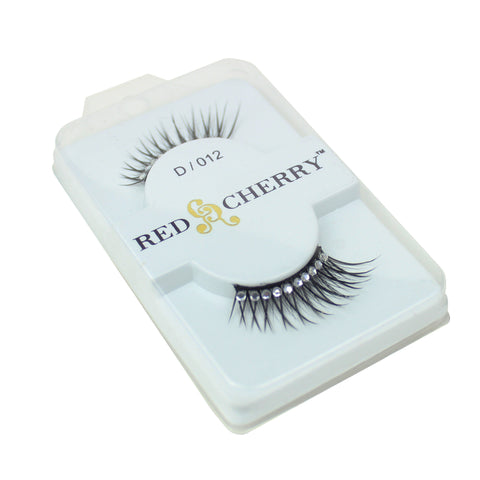 Red Cherry 100% Human Hair False Eye Lashes Fake Eye Lashes #D012