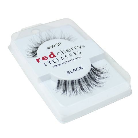 Red Cherry 100% Human Hair False Eye Lashes Fake Eye Lashes #WSP Wispy
