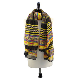 Womens Long Voile Tribal Aztec Scarf Shawl Hmong Muslim Hijab