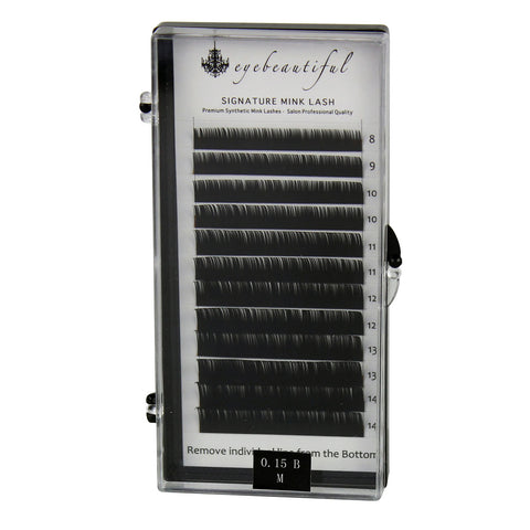 Eyebeautiful Premium MINK Individual Lashes .15mm Mixed B Curl Lash Extension