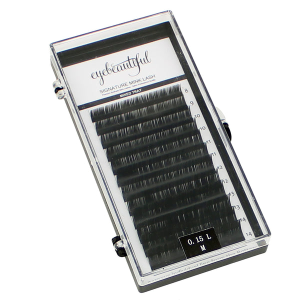 Eyebeautiful Premium MINK Individual Lashes .15mm Mixed L Curl Lash Extension