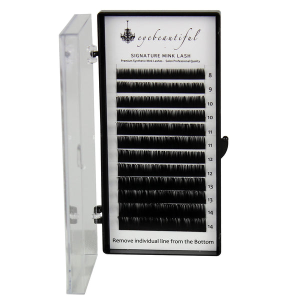Eyebeautiful Premium MINK Individual Lashes .20mm Mixed B Curl Lash Extension