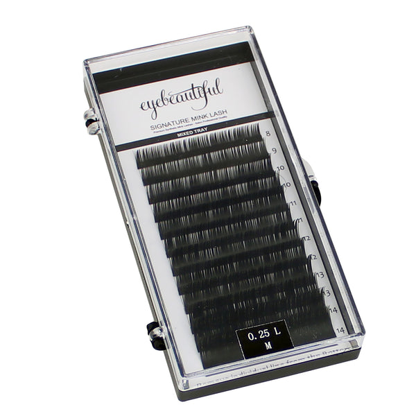 Eyebeautiful Premium MINK Individual Lashes .25mm Mixed L Curl Lash Extension