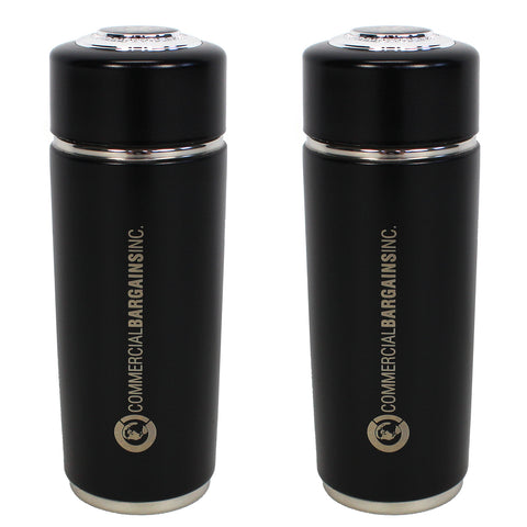 2 Pack Black Alkaline Energy Flask Ionizer Water Bottle with Cases - Commercial Bargains Inc. - 1