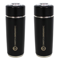 2 Pack Black Alkaline Energy Flask Ionizer Water Bottle With Cases