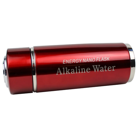 Red Alkaline Energy Flask PH Ionizer Water Bottle With Case