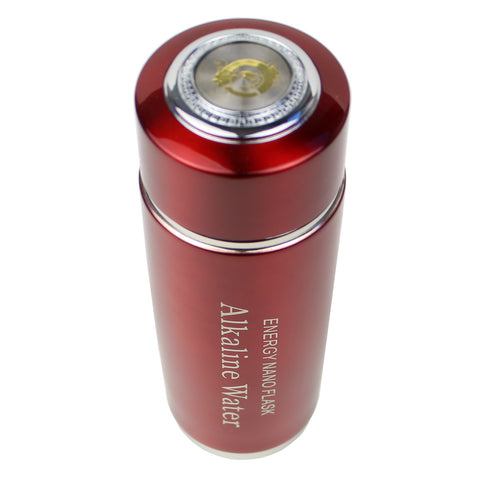 2 Pack Red Alkaline Energy Flask Ionizer Water Bottle With Cases