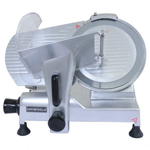 "UniWorld Meat Slicer 10"" Blade Stainless Steel ETL Listed SL-10E"