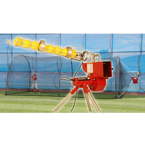 Trend Sports Heater Combo Softball Pitching Machine & Xtender 24 Cage HTRSB699