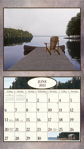 2021 At The Water's Edge Wall Calendar