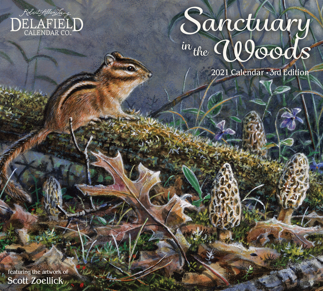 2021 Sanctuary in the Woods Wall Calendar