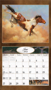 2021 Horses in the Wild Wall Calendar