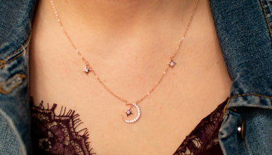 Collar Luna Gold Rose