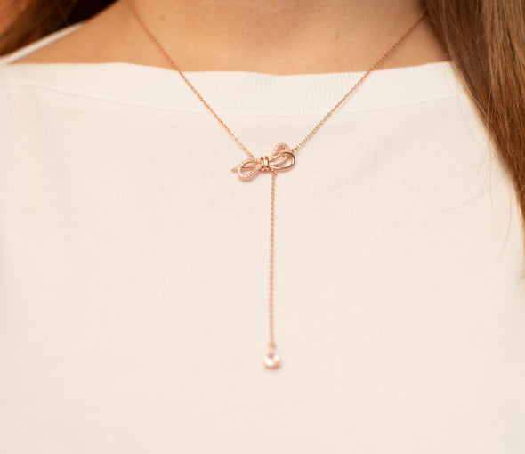 Bow Necklace Adjustable