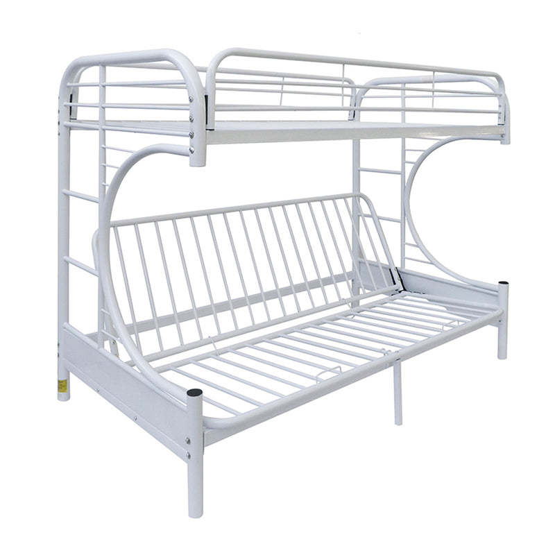 Eclipse White Bunk Bed (Twin/Full/Futon)
