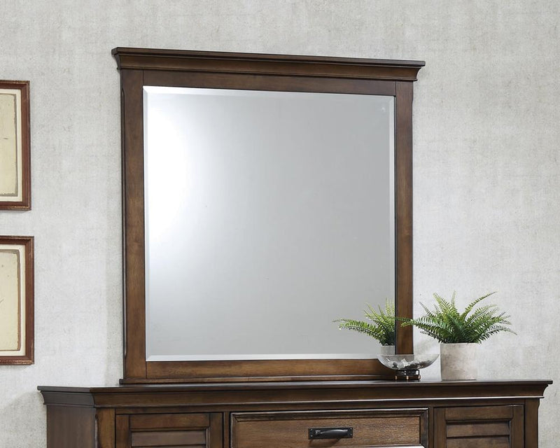 Franco Burnished Oak Dresser Mirror image