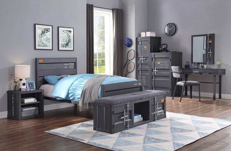 Cargo Gunmetal Twin Bed